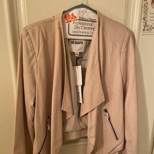 BB Dakota Light Pink/Dusty Rose Leather Jacket